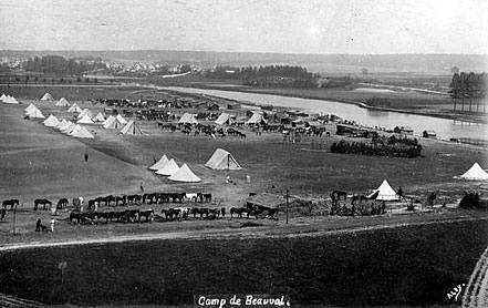 Champ de manœuvres du 4ème Hussard à Beauval (coll. part.)