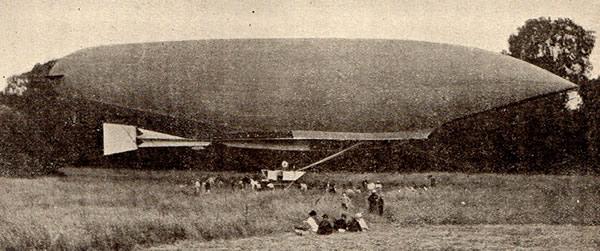 Le Lebaudy à Jouarre, 4 juillet 1905 (coll. P.L.)