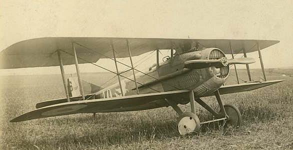 Spad XIII de la SPA 99 en panne à May - juin 1918 (coll. part.)