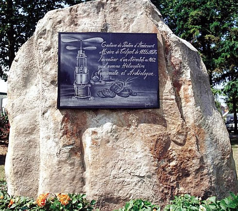 Stèle Ponton d'Amécourt - Trilport